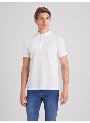 Dufy Düz Erkek T-Shirt - Slim Fit Beyaz